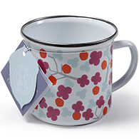 Cherry Blossom Enamel Mug