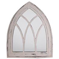 Large Cream Gothic Mirror