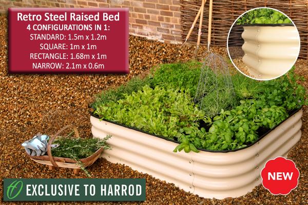 Retro Steel Raised Bed